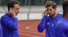 14.06.2018; Basel; Fussball Super League - Training FC Basel;Luca Zuffi (Basel) Fabian Frei (Basel) Laktat-Test (Andy Muell