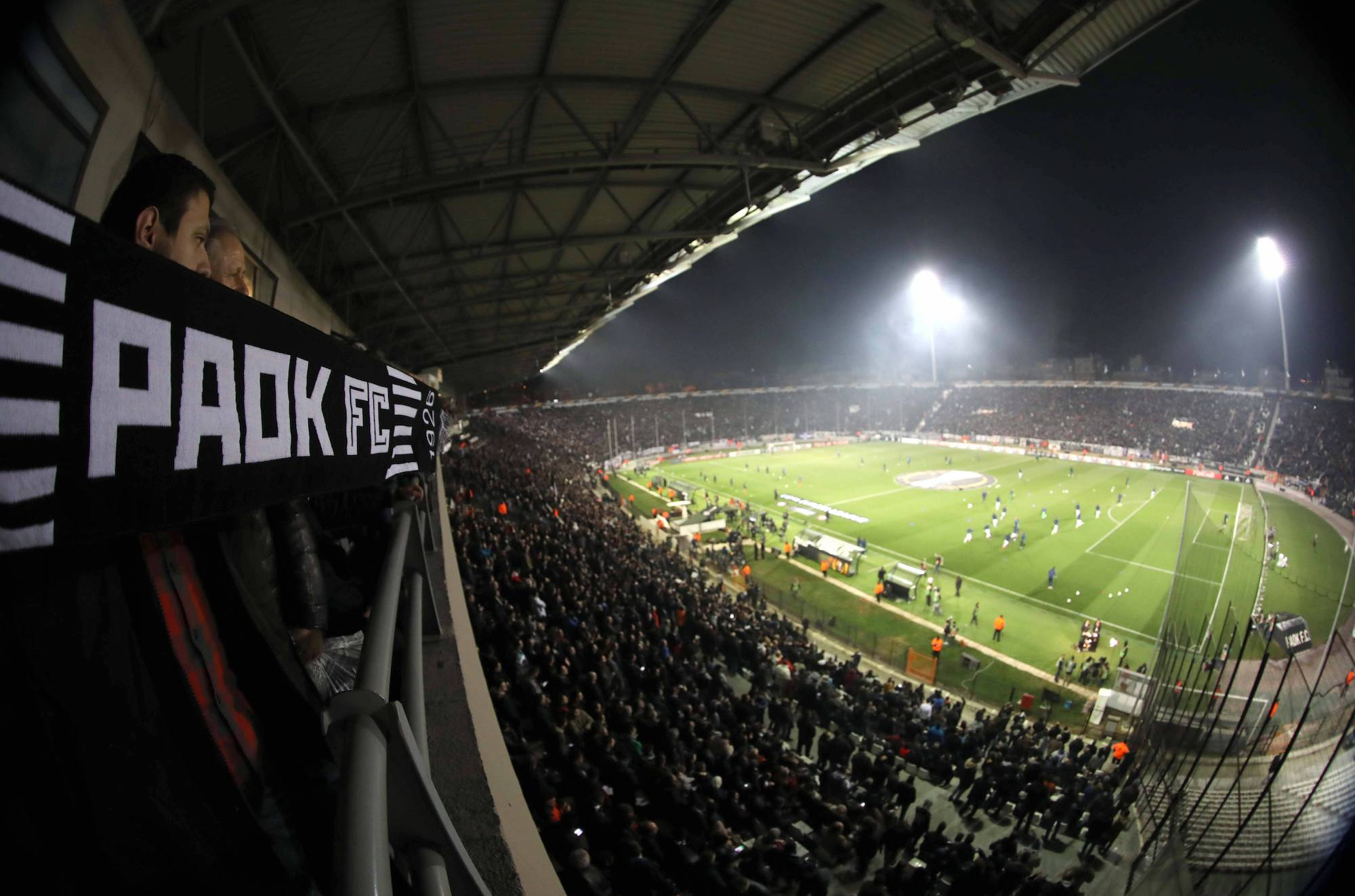 Fussball Europa League Stadio Toumba - Salonika 16.02.2017 Round of 32, 1st leg PAOK Thessaloniki - Schalke 04 Fans von PAOK