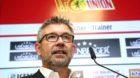 Pressekonferenz PK Vorstellung Trainer Urs Fischer / / Fuflball Fussball / zweite 2.Bundesliga Herren DFL / Saison 2018/2019