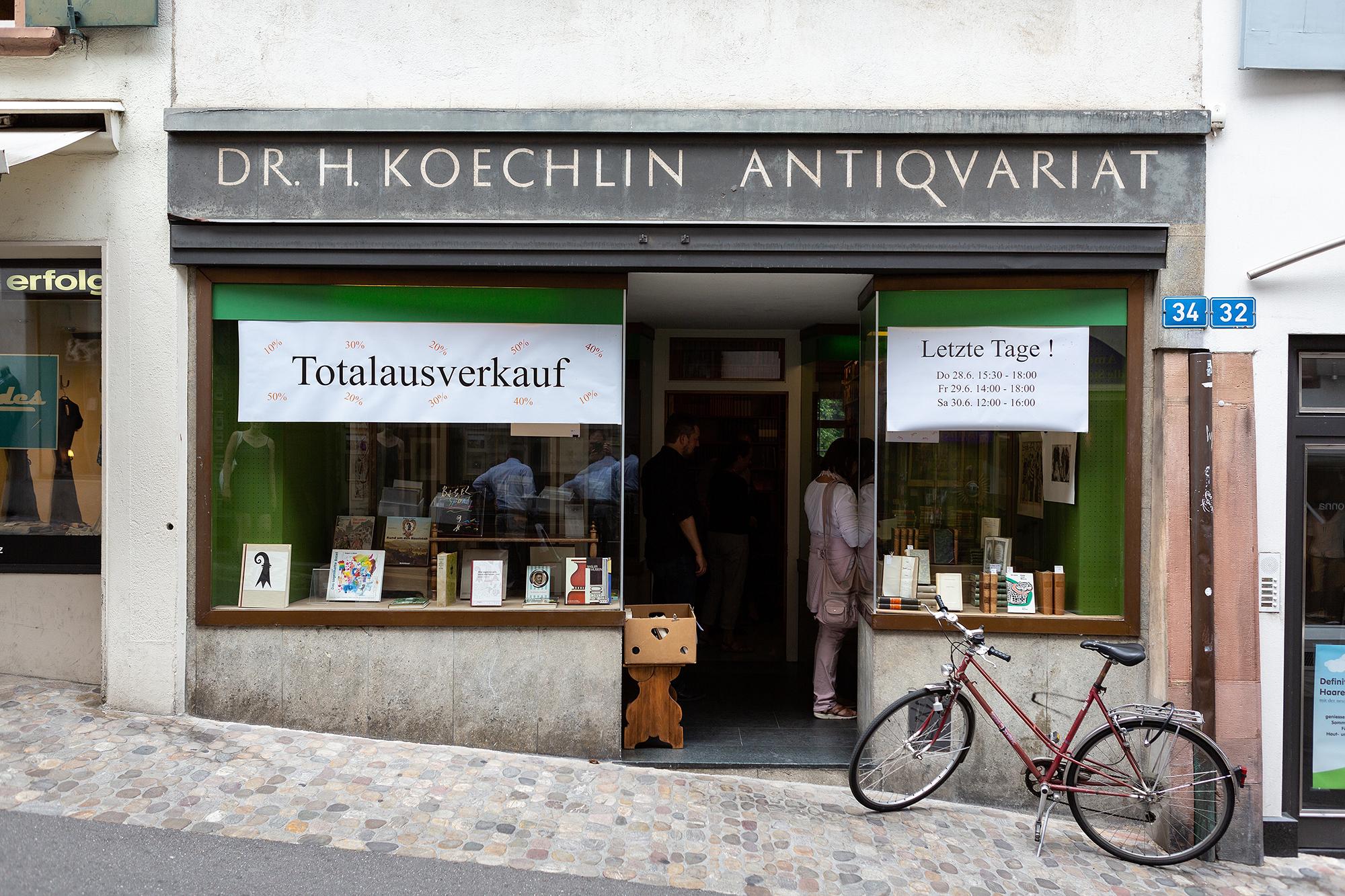 Das Antiquariat Dr. H. Koechlin am Spalenberg 34 gibt es nicht mehr.