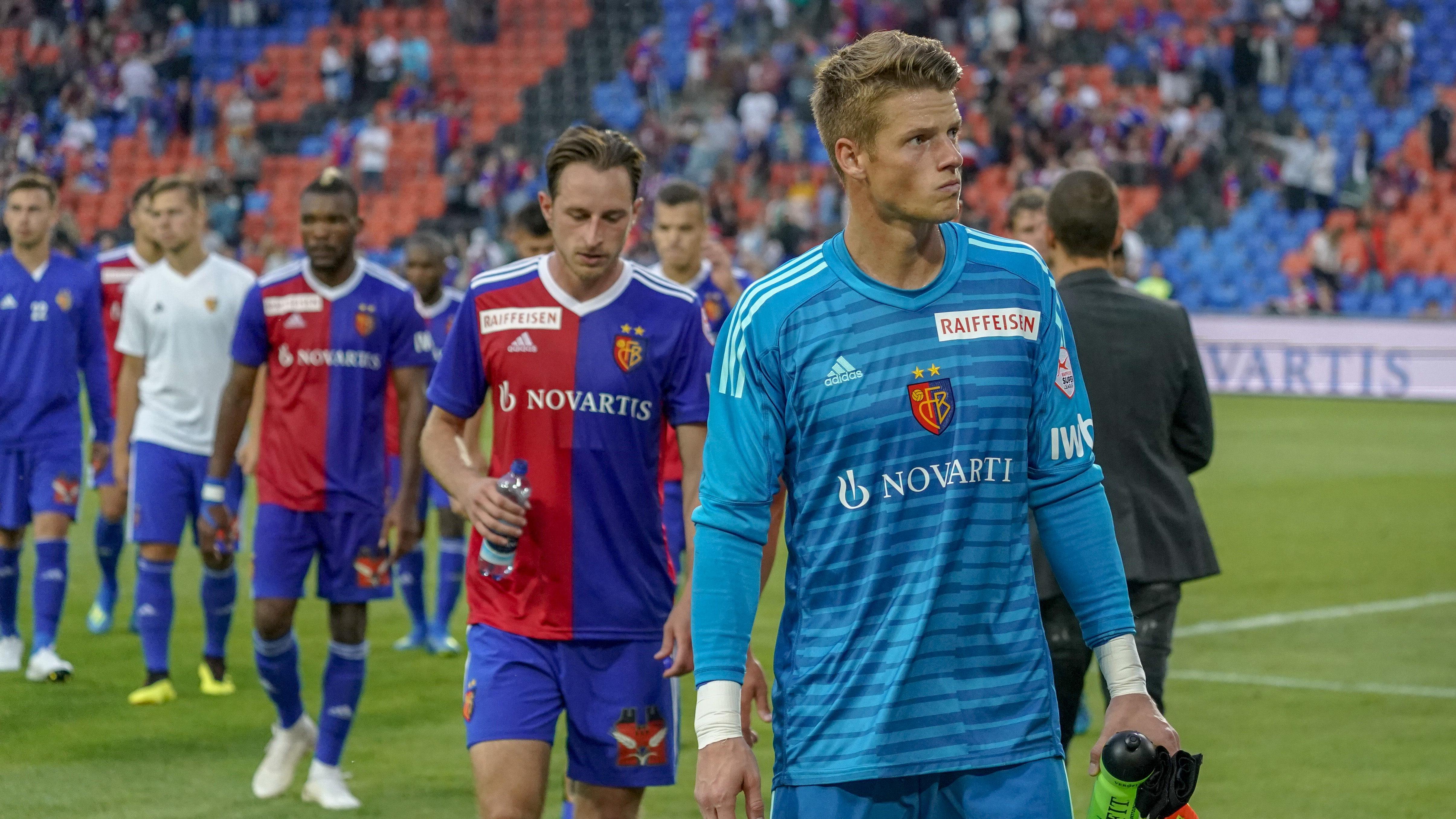 21.07.2018; Basel; FUSSBALL SUPER LEAGUE - FC Basel - FC St.Gallen;Torhueter Jonas Omlin (Basel) enttaeuscht (Andy Mueller/