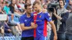 21.07.2018; Basel; FUSSBALL SUPER LEAGUE - FC Basel - FC St.Gallen;Trainer Raphael Wicky (Basel) Silvan Widmer (Basel) Auswe