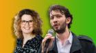 Bald politisch Verbündete im Baselbiet? CVP-Präsidentin Brigitte Müller-Kaderli und Grünen-Präsident Balint Csontos.
