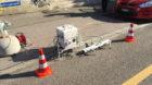 Dieses Gerät steht an sonnigen Tagen an der Feldbergstrasse beim Auffahrt zur Johanniterbrücke. Es misst per Infrarot und U