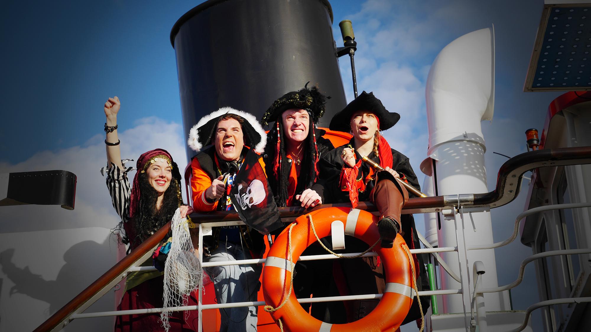 Theater auf dem Schiff: «Luis im Piratenland» von den Flusspiraten.