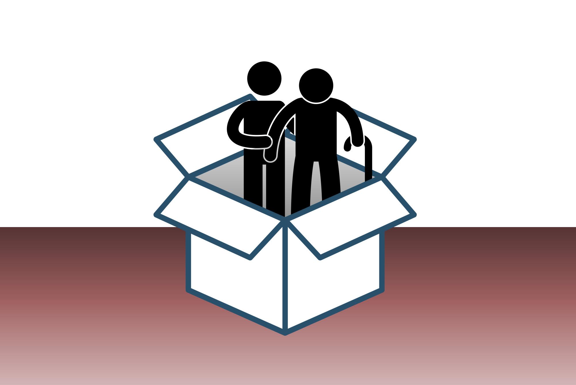 Erst zwei Personen älterer Generation haben bisher ihre Umzugskosten gepackt.