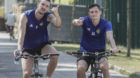 03.08.2018; Basel; FUSSBALL SUPER LEAGUE; Training FC Basel; Zdravko Kuzmanovic (Basel) Taulant Xhaka (Basel) (Andy Mueller