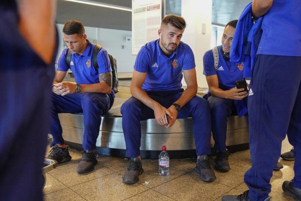 08.08.2018; Arnheim; FUSSBALL EUROPA LEAGUE QUALI - Reise FC Basel - Ankunft Weeze; Albian Ajeti (Basel) (Andy Mueller/freshfocus)