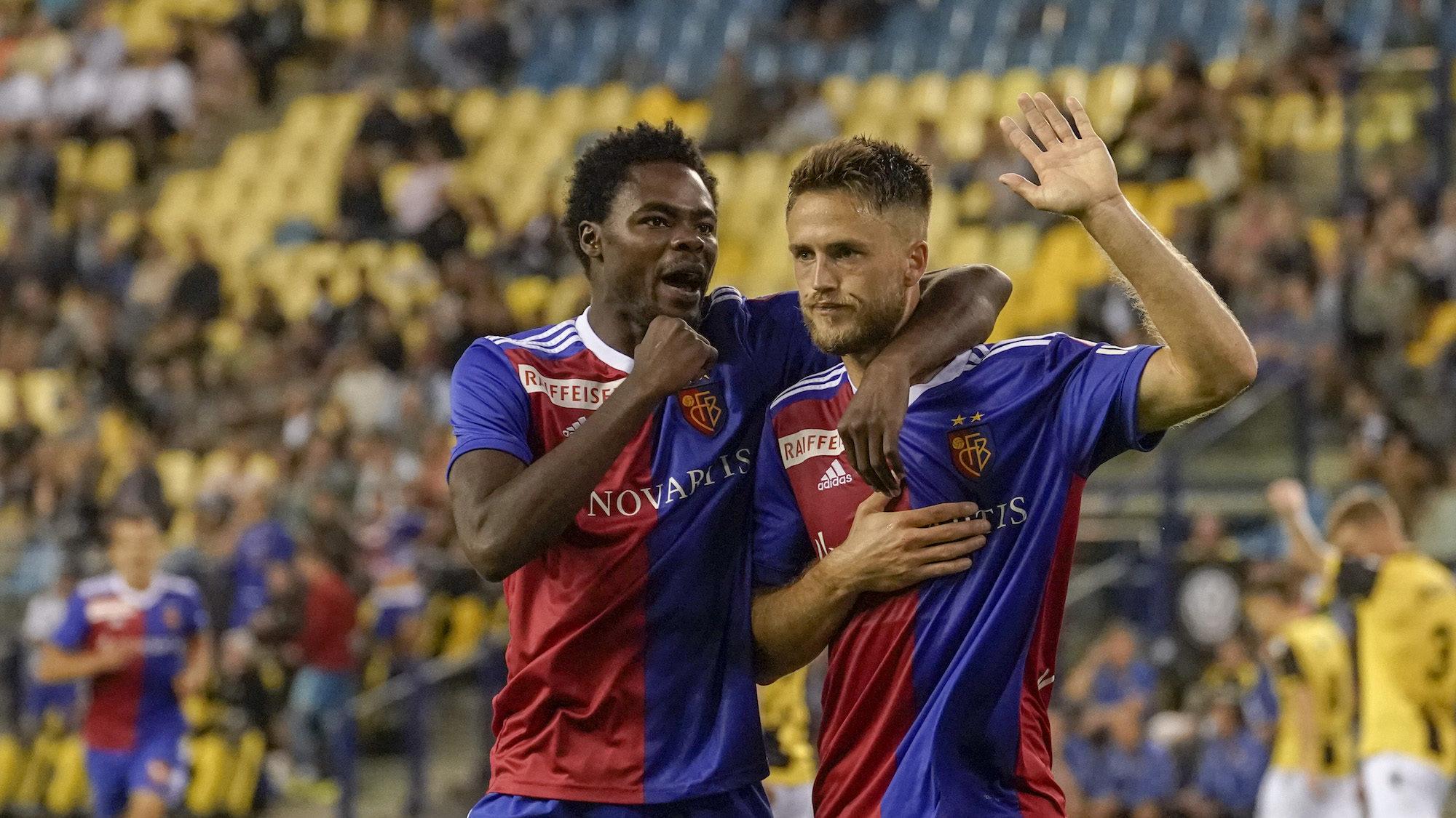09.08.2018; Arnheim; FUSSBALL EUROPA LEAGUE QUALI  - Vitesse Arnheim - FC Basel;Dimitri Oberlin (Basel) Ricky van Wolfswinke