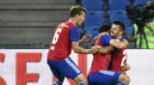 16.08.2018; Basel; Fussball Europa League Qualifikation - FC Basel - SBV Vitesse Arnheim; Albian Ajeti (R, Basel) jubelt nac