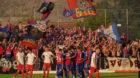 18.08.2018; Montlingen; FUSSBALL SCHWEIZER CUP - FC Montlingen - FC Basel;Basels Spieler jubeln nach dem Tor zum 0:2 (Andy