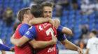 23.08.2018; Basel; FUSSBALL EUROPA LEAGUE QUALI - FC Basel - Apollon Limassol FC;Fabian Frei (Basel) Luca Zuffi (Basel) Rick
