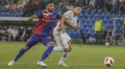 23.08.2018; Basel; FUSSBALL EUROPA LEAGUE QUALI - FC Basel - Apollon Limassol FC;Eray Coemert (Basel) Adrian Sardinero (Lima
