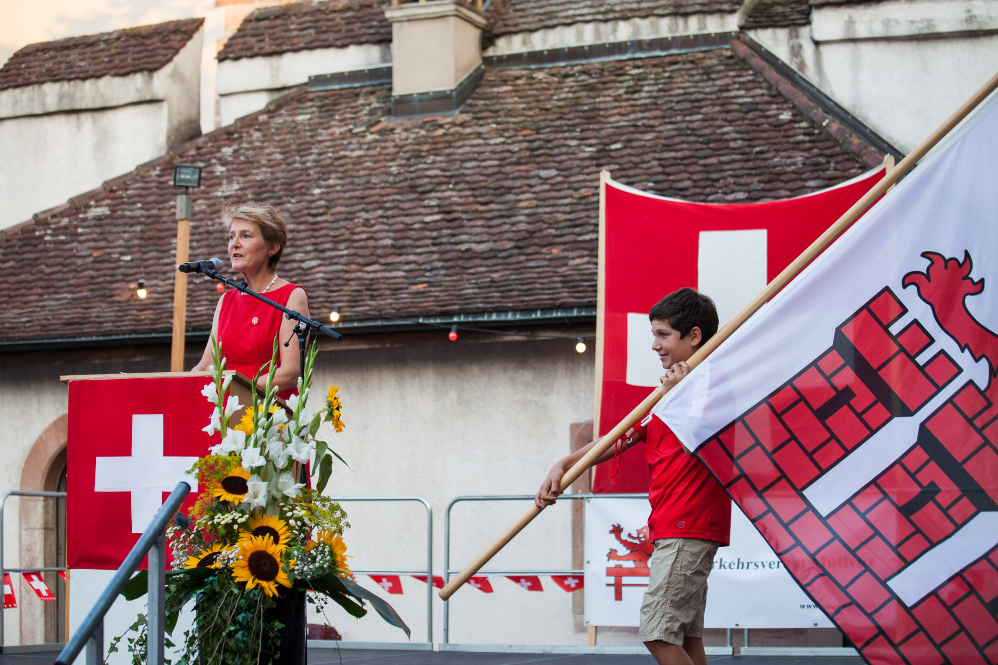 Für Bundesrätin Simonetta Sommaruga gab es am Dienstag in Muttenz grossen Applaus.