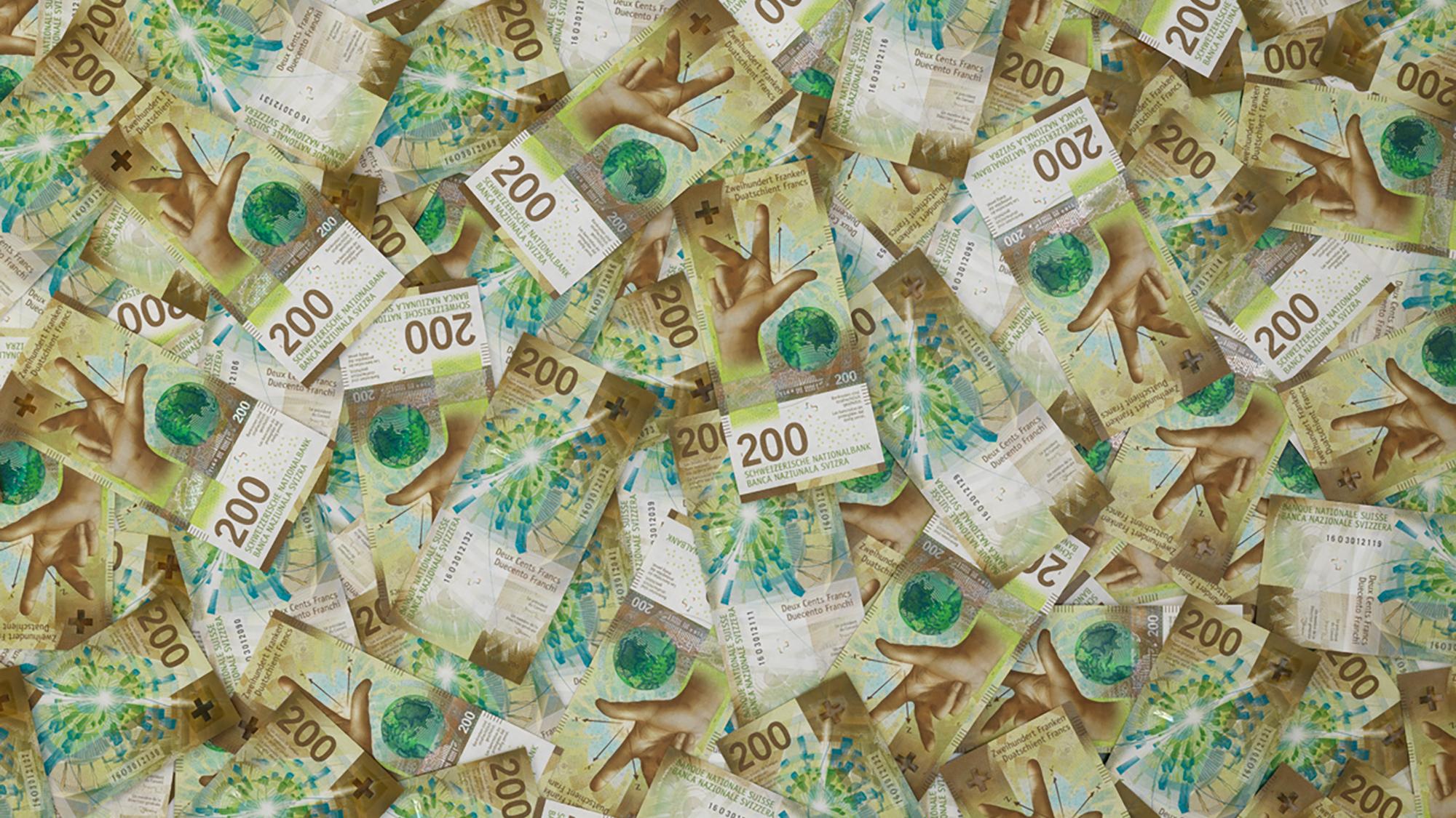 Notenhaufen 200-Franken-Note, VS_RS