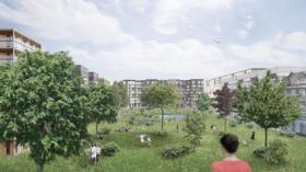 So könnte der Stadtpark gemäss dem Nein-Komitee auf dem Lysbüchel-Areal aussehen.