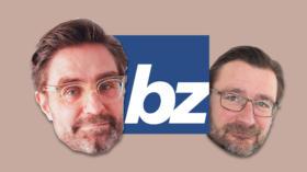 Patrick Marcolli (li.) wird neuer Chefredaktor der «bz Basel». Er folgt auf David Sieber.