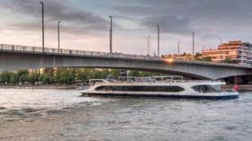 Das lokale Personenschiff «Rhystärn» ist eines der wenigen Schiffe, die auf dem Rhein bei Basel noch verkehren.