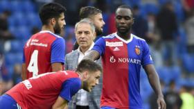 02.09.2018; Basel; Fussball Super League - FC Basel - FC Thun; Silvan Widmer (Basel) , Eray Coemert (Basel) Ricky van Wolfswi