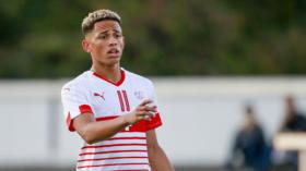 10.10.2018; Basel; Fussball EM Qualifikation U19 - Weissrussland - Schweiz; Noah Okafor (SUI)  (Marc Schumacher/freshfocus)