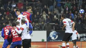 31.10.2018; Basel; Fussball Schweizer Cup - FC Winterthur - FC Basel; Silvan Widmer (Basel) schiesst das Tor zum 1:0 (Daniela