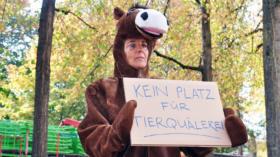 Protest mit Erfolg: Auch 2018 gibts an der Herbstmesse kein Ponyreiten.