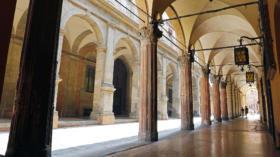 Typische Arkaden, Bologna, Emilia Romagna, Italien, Europa *** Typical arcades Bologna Emilia Romagna Italy Europe Copyright: