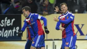 31.10.2018; Basel; Fussball Schweizer Cup - FC Winterthur - FC Basel; Fabian Frei (Basel) und Silvan Widmer (Basel) jubeln no